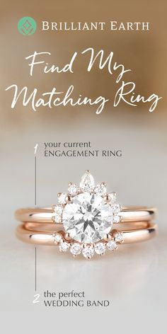 Choose your engagement ring, then use our Matching Wedding Ring tool to create a wedding ring set and discover which wedding ring pairs best with your engagement ring. Matching Wedding Rings, Matching Rings, Wedding Matches, Diamond Wedding Rings, Perfect Wedding, Wedding Bands, Dream Wedding, Wedding Day, Trendy Wedding