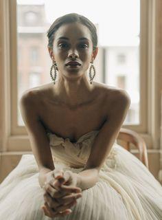 Samuelle Couture Dress + Jennifer Behr Collection