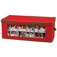 Household Essentials Storage and Organization 36 Piece Holiday Ornament Chest