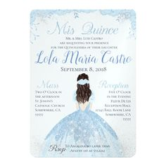 Quinceanera Party Planning – 5 Secrets For Having The Best Mexican Birthday Party Invitations Quinceanera, Cinderella Invitations, Quince Invitations, Quinceanera Planning, Quinceanera Themes, Quinceanera Dresses, Zazzle Invitations, Invitation Ideas, Cinderella Theme