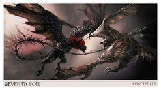 CIA☆こちら映画中央情報局です: Seventh Son : ジェフ・ブリッジスの魔使いの騎士と、ジュリアン・ムーアの魔女の名優同士が対決するアクション・ファンタジー映画の最新作「セブンス・サン」のスーパーボウル・スポットと、モンスター・クリーチャーなどのコンセプト・アート!! - 映画諜報部員のレアな映画情報・映画批評のブログです