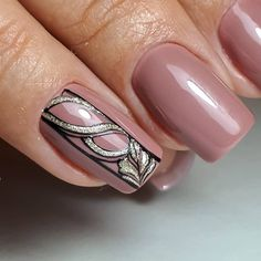A manicure is a cosmetic elegance therapy for the finger nails and hands. A manicure could deal with just the hands, just the nails, or Line Nail Designs, Heart Nail Designs, Nail Polish Designs, Purple Ombre Nails, Pink Nails, Gel Nails, Cute Nails, Pretty Nails, Square Oval Nails