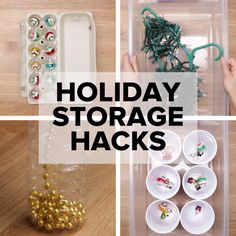 5 Holiday Storage Hacks // #holiday #storage #storagehacks #organization #holidayhacks