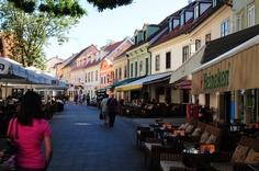 Tkalča Street in Croatia