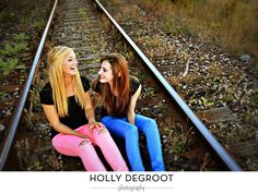 best friend photo shoot.--- always wanted to do a photoshoot on rail road tracks