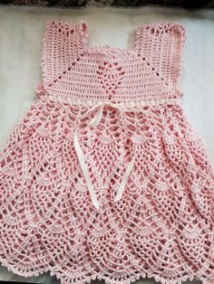 Handmade little girl dress cotton - Babykleidung Crochet Baby Clothes Boy, Crochet Dress Girl, Crochet Baby Dress Pattern, Baby Girl Crochet, Crochet For Kids, Crochet Baby Dresses, Diy Crafts Dress, Crochet Princess, Booties Crochet