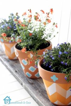 How To Decorate Planters With Self-Adhesive Shelf Liner | Shelterness