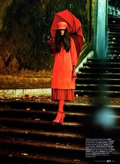 """Acid Trip"" ELLE March 2008 Photographed by Serge Leblon Styled by Aleksandra Woroniecka Model Daiane Conterato"