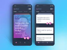 Qutoz - Daily Motivational Quote  UI concept #1