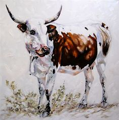 Terry Kobus produces a variety of styles and sized works each displaying fine craftsmanship and execution and is renowned for his exquisite. Cow Painting, Painting & Drawing, Watercolour Painting, Cow Art, Wildlife Art, Rind, Western Art, Animal Paintings, My Animal