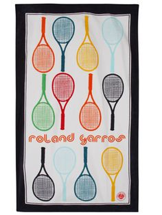 Roland Garros 2012 Racquets Beach Towel.