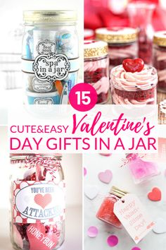 Valentines Gifts In A Jar That Everyone Will Love! These fun & easy Valentines gift ideas are perfect for your boyfriend, mom, dad, and friends! From spas in a jar to hot chocolate cookie mixes and sw Unique Gifts For Boyfriend, Best Gifts For Girls, Unique Gifts For Him, Diy Gifts For Mom, Easy Diy Gifts, Homemade Gifts, Boyfriend Gifts, Dear Boyfriend, Funny Valentine