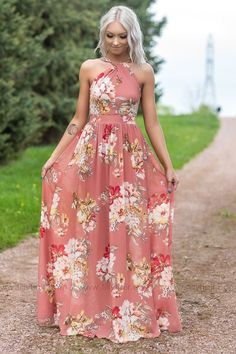 97f94d32d97 Filly Flair Exclusive  Lovely Days Floral Sleeveless Maxi Dress - Filly  Flair Filly Flair