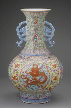 A Famille Rose Vase, #Qianlong Mark, Republic Period, Estimate: $4,000/6,000 #asianart #republicperiod #famillerose #michaans http://www.michaans.com/highlights/2013/highlights_06232013.php