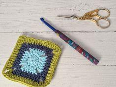 Crochet hook, size (US size J), polymer clay Fimo covered aluminium hook Crochet Hook Sizes, Crochet Hooks, Yellow Pattern, Chunky Yarn, Sock Yarn, Hand Dyed Yarn, Crochet Gifts, Really Cool Stuff, Polymer Clay