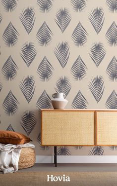 Ready to take your interior design to a tropical destination? Our Honua Blue wallpaper is a stylishly subtle palm leaf print that makes a perfect addition to any room with a relaxed, natural vibe. The pattern is made up of real photographic palm leaves that we've colored in a deep blue hue. The background color is a soft cream, which allows this wall design to work particularly well in neutral spaces with minimal decor and wooden accents. World Map Wallpaper, Forest Wallpaper, Flower Wallpaper, Pattern Wallpaper, Leaf Design, Wall Design, Childrens Shop, Tropical Wallpaper, Design Repeats