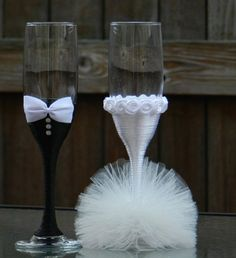 This item is unavailable Wedding Toasting Glasses, Wedding Champagne Flutes, Toasting Flutes, Champagne Glasses, Wedding Crafts, Diy Wedding, Wedding Favors, Wedding Bottles, Blue Wedding
