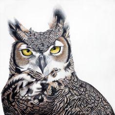 Artist- paintings and art prints of birds, animals and people Artist Painting, Sculpting, Owl, Aesthetics, My Arts, Birds, Art Prints, Portrait, Artwork