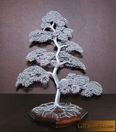 Moyogi Style Wire Tree Sculpture Silver