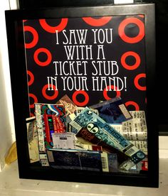 Phish top loading shadow box for tickets