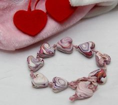 Hearts and Cords Bracelet