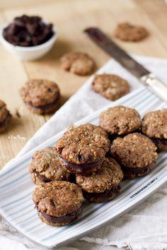 Vegan Walnut Sandwich Cookies With Dark Chocolate Fudge : Zizi's Adventures – Real Food, Real Stories