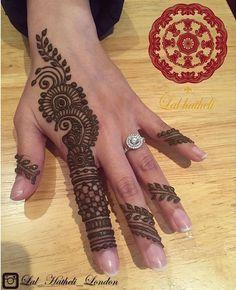 Beautiful henna veil by Lal Hatheli London.