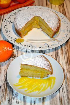 Torta con crema all'arancia senza uova   Mela Cannella e Fantasia