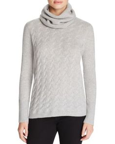 Magaschoni Cashmere Detachable Cowl Neck Sweater | Bloomingdale's