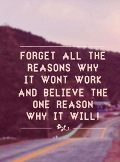 Forget all the reasons why it wont work..