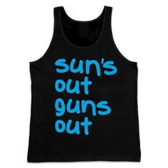 SUNS OUT GUNS OUT SUN'S BEACH MUSCLE TANK TOP VEST SLEEVELESS MEN'S TEE SHIRT FUNNY FOR MEN WOMEN EURO SIZE XS-XXXL http://riflescopescenter.com/category/bushnell-riflescope-reviews/