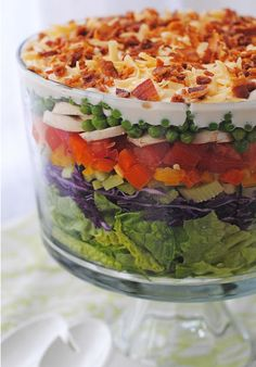 Layered Salad What a healthy alternative to a sugary trifle! Recipe ...
