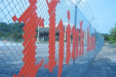 fence art - change your boring mesh fence into something of interest