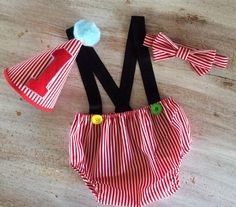 Boy Circus Theme Cake Smash Birthday Outfit with by CuteAsClaire