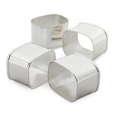 The Cambridge Collection Napkin Rings, Set of 4 | Sur La Table