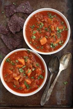 Slow Cooker Sweet Potato Chili (Paleo + Whole30 approved!) // One Lovely Life
