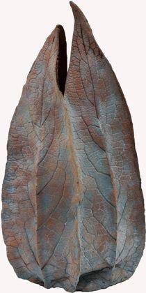 Ceramics by Joan Hardie at Studiopottery.co.uk - Red comfrey vase, 2008.
