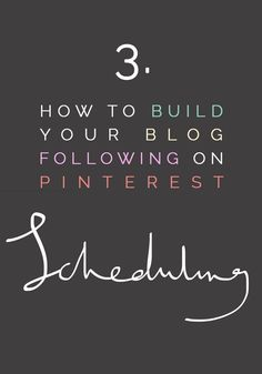 Fall For DIY How to Build your Blog following on Pinterest Part 3:Scheduling Join a Pin scheduling service like Ahology. If you're a content creator you can schedule you Pins to a time when they will make the most impact. This is her secret weapon! Living in the UK many of my followers are Pinning whilst Francesca is sound asleep and (hopefully) not dreaming of Pinterest… @FallForDIY blogging tips ideas #blogging #resources