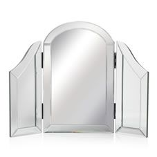 Wilko All Glass Dressing Table Mirror at wilko.com