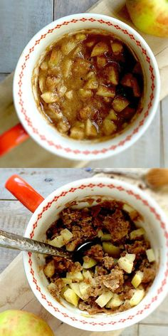In less than 10 minutes, you'll be enjoying this healthy Chai Spiced Gluten-Free Apple Pie Mug Cake!