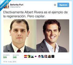 Albert Rivera, todo un ejemplo de regeneración por @SenoritaPuri   Gracias a http://www.vistoenlasredes.com/   Si quieres leer la noticia completa visita: http://www.estoy-aburrido.com/albert-rivera-todo-un-ejemplo-de-regeneracion-por-senoritapuri/