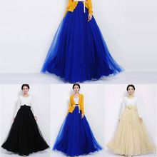 New Hot Vintage Bowknot Empire Waist Chiffon Pleated Long Maxi Skirt Gown Lucky(China (Mainland))