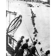 British soldiers are evacuated from a Dunkirk beach, northern France, in June 1940 Picture: AFP/GETTY World History, World War Ii, Dunkirk Evacuation, Branch Of Service, Merchant Marine, British Soldier, The Eighth Day, Military Veterans