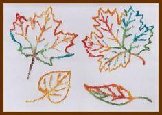 Kresba lepidlem a solí Games For Kids, Art For Kids, Crafts For Kids, Embroidery, School, Blog, Children, Winter, Kunst