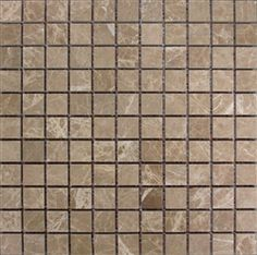 "Stone Mart USA's   1""x1"" Emperador Light Mosaic Polished Marble Mosaic Tile"