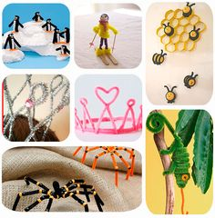 7 manualidades infantiles con limpiapipas Kids Crafts, Sunday School Projects, Pipe Cleaner Crafts, 4 Kids, You And I, Birthday Parties, Baby Shower, Crafty, Education