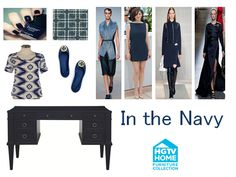 Navy is the new black! HGTV HOME Furniture's desk is a timeless piece and our navy fabrics add fun to any room. Home Decor Furniture, Dining Room Furniture, Navy Fabric, Red Carpet Fashion, Furniture Collection, Hgtv, Fabrics, Rug, Desk