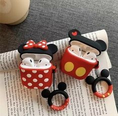 Cute Mickey Minnie Wireless Bluetooth Silicone Case For Apple Airpods Cute Mickey Mouse, Mickey Minnie Mouse, Stitch Cartoon, Earphone Case, Airpod Case, Airpod Pro, Air Pods, Cute Cases, Cute Disney