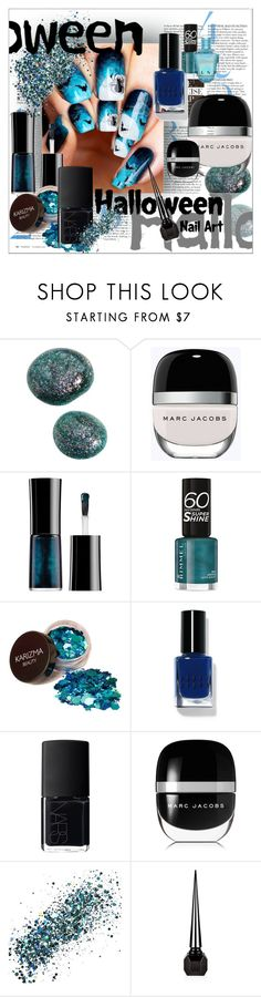"""""""Boo-tiful: Halloween Nail Art"""" by moody-board ❤ liked on Polyvore featuring beauty, Marc Jacobs, Giorgio Armani, Rimmel, Bobbi Brown Cosmetics, NARS Cosmetics, SkinCare, Christian Louboutin and nailart"""