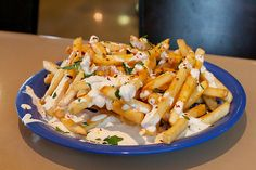 French Fries w. Blue Cheese + Chilli Oil